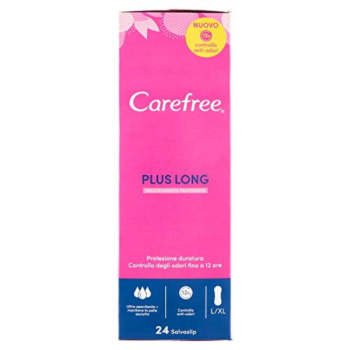 Carefree Plus Extra Wide Panty Liners, 5 Freshness Benefits - 24 Pieces