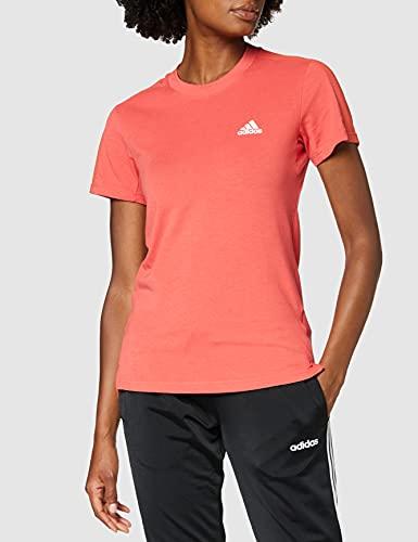 adidas Damen Designed to Move AEROREADY T-Shirt, Crew Red/White, XL