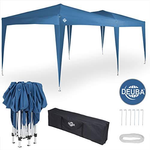 Deuba® Pavillon Capri 3x6m wasserabweisend Pop-Up inkl. Tasche UV-Schutz Faltpavillon Gartenzelt Partyzelt Blau
