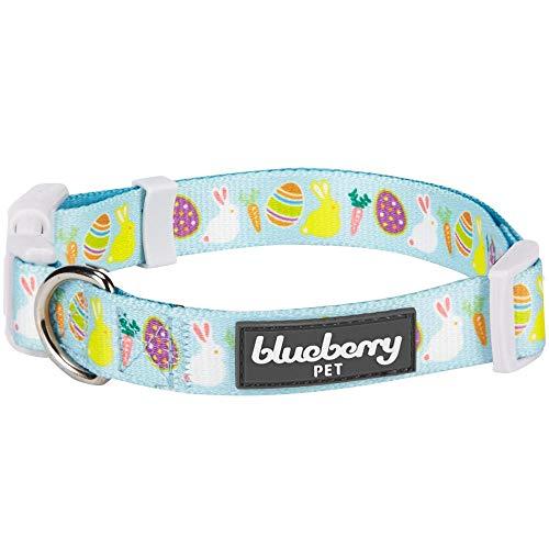 Blueberry Pet Easter Spring Bunny and Egg Designer Dog Collar in Sky Blue,...