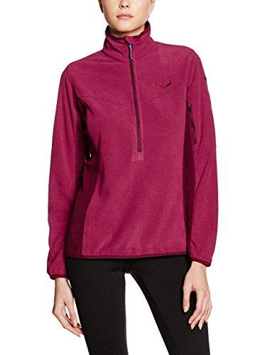 Salewa Puez Plose Pl W Hz - Sweat-Shirt pour Femme, Couleur Rouge, Taille 48/42
