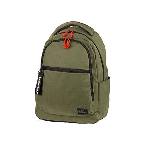 Rise Classic Olive Backpack with 3 Compartments, Laptop Compartment, Side Pockets, Padded Back, Adjustable Shoulder Straps, Approx. 32 x 45 x 21 cm, 30 litres