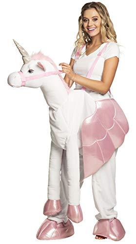 Boland 10132117 Kostüm Auf einem Einhorn, Weiß/Rosa, One Size