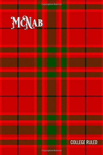 McNab Tartan Composition Book, Matte Cover, College Ruled Pages: 6x9 Inches, 100 Pages, Personalized and Perfect for Class, Work, Journaling, Recipes, Notes