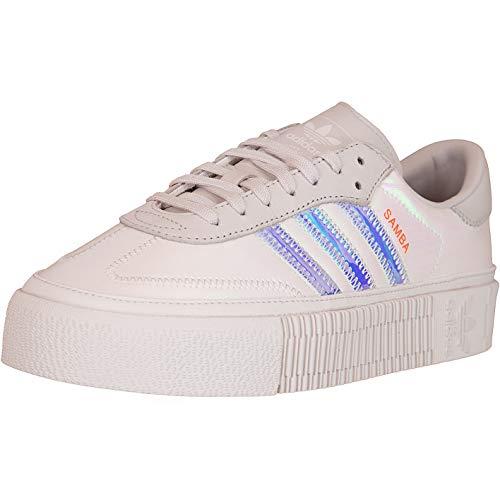 Adidas - Zapatillas de deporte para mujer, color Plateado, talla 40 2/3 EU