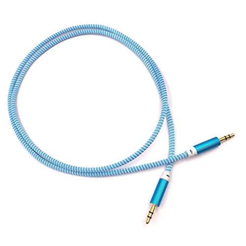 rongweiwang Aleación Coche AUX Cable de 3,5 mm o Auxiliar estéreo de Coche Cable o línea Trenzada de 1 Metro núcleo de Cobre de Alambre Tejido