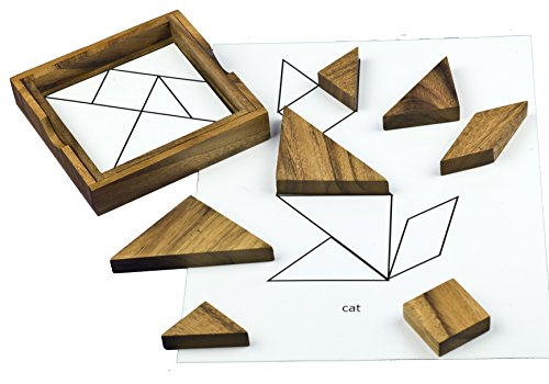 Keeping Busy Wooden Tangram Dementia and Alzheimers Puzzle Engaging Activities / Puzzles / Games for Older Adults