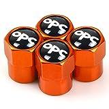 Tapas de válvula de neumático de rueda de tapa de polvo de aleación de metal para coche 4 Uds para Opel OPC,accesorios de estilo de coche