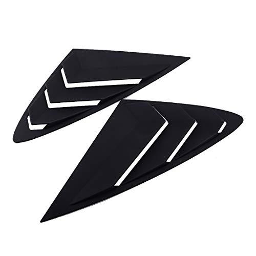 벨러 1PAIR 매트 블랙 리어 사이드 윈도우 벤트 스쿠프 루버 루버 착용 HYUNDAI SONATA DN8 2020-2021