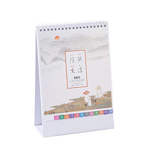 SENFEISM 2021 Calendar 2021 Creatives Calendar Exquisite Desktop Desk Calendar Advent Calendars