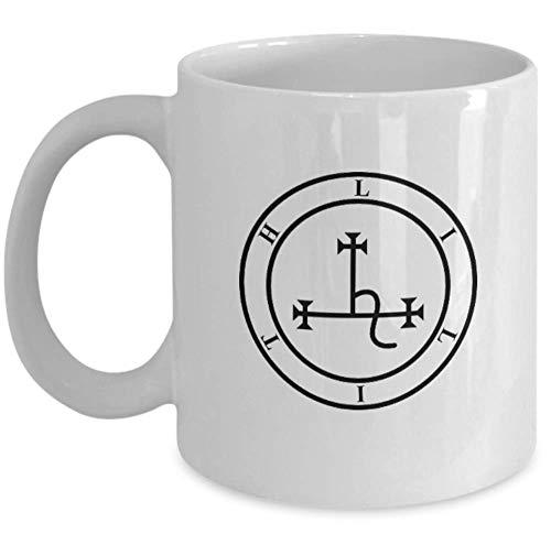 Esoteric 666 coffee mug - Goddess Lilith sigil seal demon mythology - Occult 666 gift satanic accessories - Fantasy horror figure witch female legend