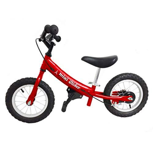 Mini Glider Kids Balance Bike with Patented Slow Speed Geometry (Red)