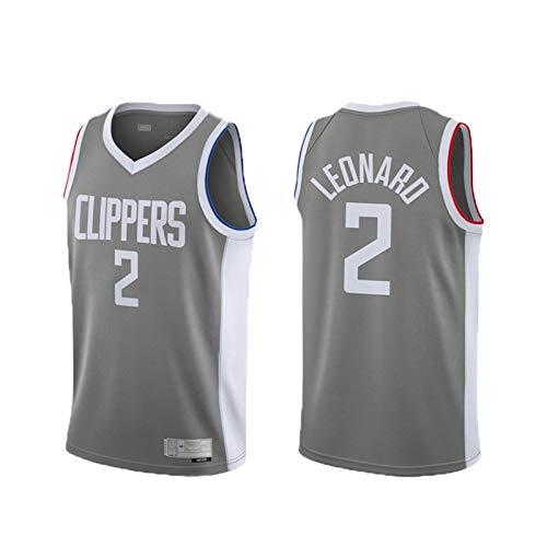 New Temporada Uniforme de Baloncesto, Clippers No. 2 Jersey de Baloncesto Leonard, Chaleco Adulto de Fan, Malla de poliéster, Adecuado para la Competencia y la Forma S