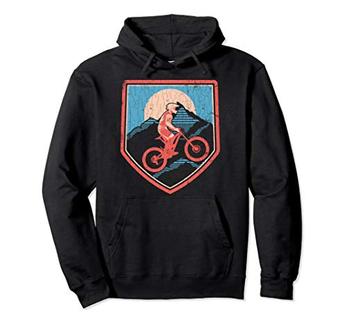 Mountain Bike Biking Gift Youth Boys Pullover Hoodie