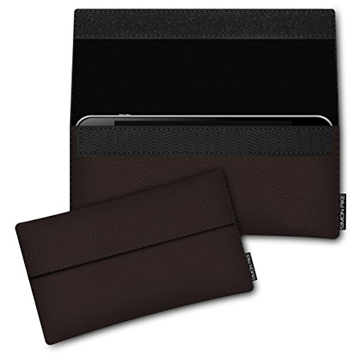 SIMON PIKE Hülle Tasche kompatibel mit Samsung Galaxy S8 Active | Ledertasche Newyork in 01 braun aus Leder Handyhülle