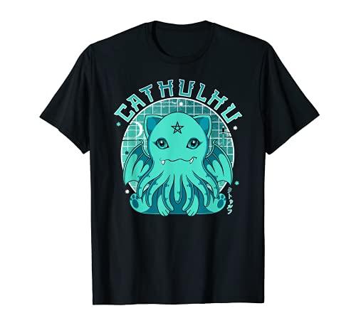 Pastel Goth Cthulhu figura kawaii Cat Cathulhu Demon Camiseta