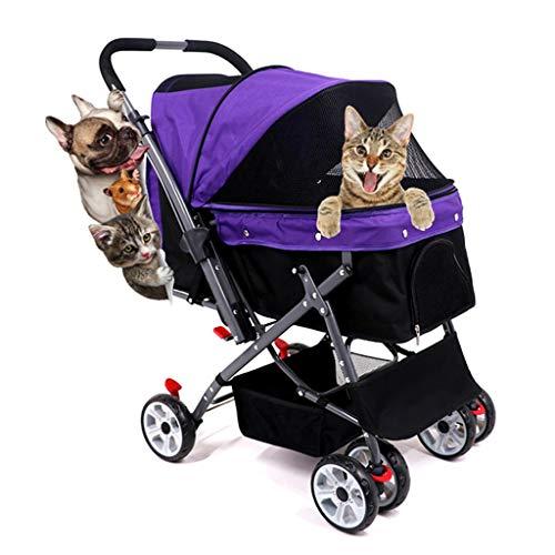 Hundebuggy bis 25kg, Haustier Buggy für Mittelgroße Hunde, Jogger Pet Hundewagen Pram Hund/Katze Spaziergänger...