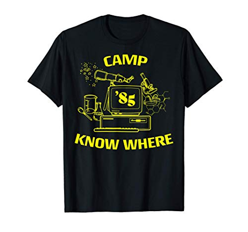 Netflix Stranger Things Camp Know Where 85 Logo Camiseta