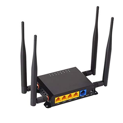 RETYLY Enrutador WiFi MóDem 4G LTE con Punto de cceso de Ranura para Tarjeta SIM 128MB Openwrt Coche/utobúS gsm 4G LTE Enrutador USB Repetidor InaláMbrico WE826-T2 (Enchufe de la UE)