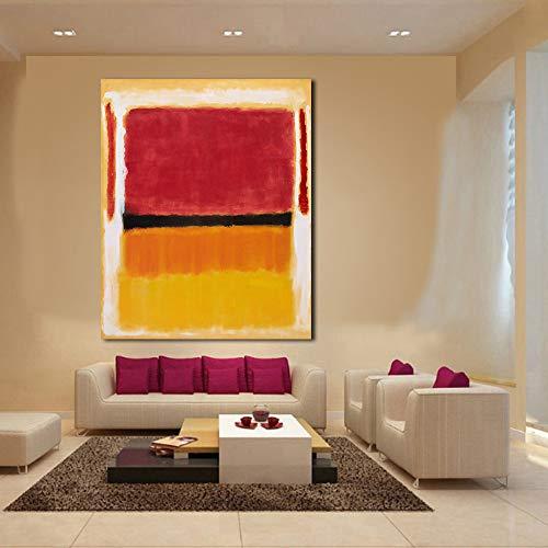 jiushibt Kein RahmenJQHYART Mark Rothko Klassisches Ölgemälde Wandkunst Bild Wohnkultur Wohnzimmer Moderner Leinwanddruck15.7x19.7inch