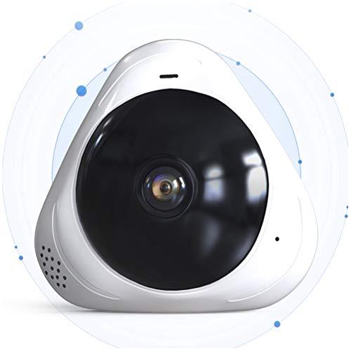 GAOJIAN Panorama de 360 Grados Cámara de vigilancia inalámbrica Monitor de visión Nocturna HD Monitorear la Red