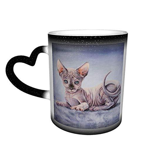 shenguang 3D Sphinx Kaffeetassen, Keramik Wärmeempfindliche Farbwechsel Tasse, Farbwechsel Tasse, Sternenhimmel Farbwechsel Tasse Geburtstag Überraschung für Jungen und Mädchen Freunde