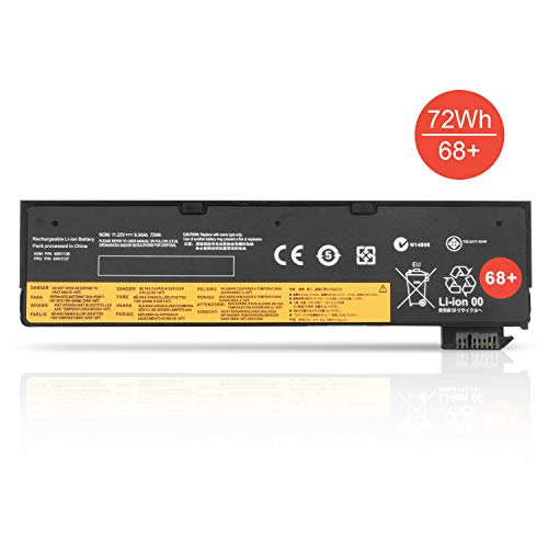 K KYUER High Capacity 72Wh 68+ 0C52862 0C52861 Batería para Lenovo ThinkPad T440 T440s T450 T450s T460 T460p T470p T550 T560 X240 X250 X260 X270 W550 W550s L450 L460 L470 P50s 45N1126 45N1127 Battery