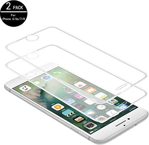 TECHKUN 3D Panzerglas Schutzfolie für iPhone 8/7/6 4.7Zoll[2 Stück]