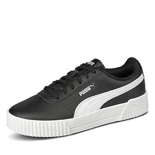 PUMA Carina L, Zapatillas Mujer, Negro Black White White 16, 38.5 EU