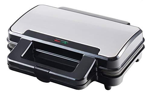 Venga! VG SM 3007, piastra da toast, potenza 900 W, acciaio inossidabile, metallo, plastica, colore nero