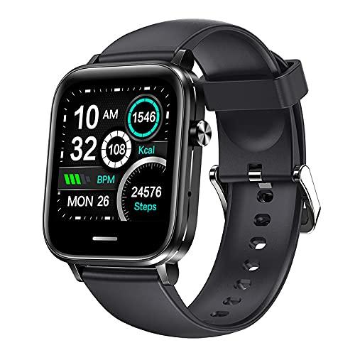 H7 Hombres Mujeres IP67 Pantalla Táctil Impermeable A Prueba De Agua Tasa De Cardiatura De Larga Data De La Presión Arterial Bluetooth Smartwatch para Android, iOS,Negro