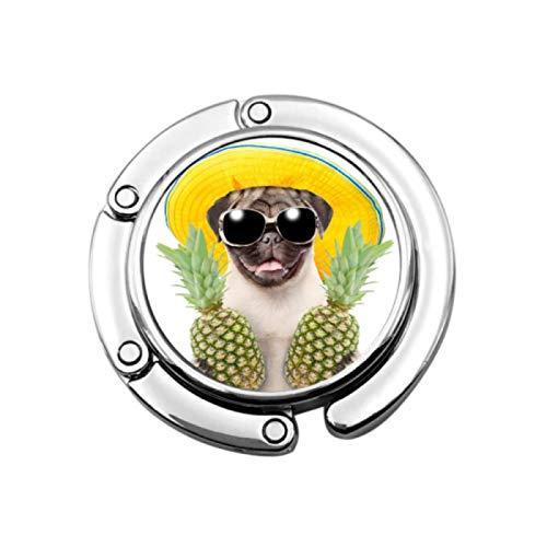 ZANSENG Purse Hook Foldable Funny Summer Dog Sunglasses Holding Pines Handbag Hooks Folding Table Hanger Holder Purse Hooks, Bag Hook For Purse