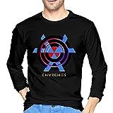 TIMOTHY BURCH Chvrches Cool Men's Long Sleeve T-Shirts Black