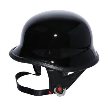 TCMT Dot Adult German Style Half Helmet Motorcycle Chopper Cruiser Biker Helmet+Goggles  X-Large Style B
