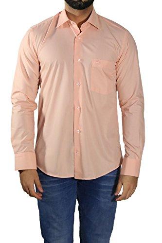 MMUGA Herren Hemden leicht tailliert Lachs XL