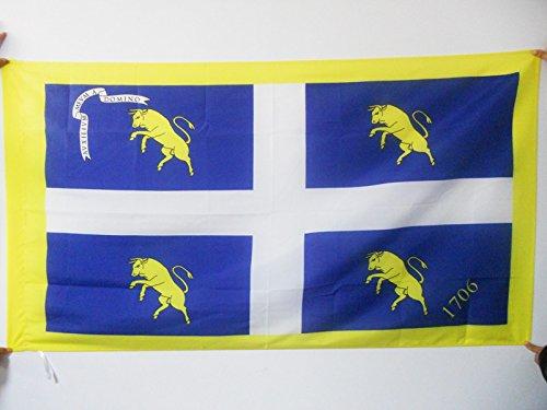 AZ FLAG Bandiera Città di Torino con Stemma 150x90cm - Bandiera Torinese - Turin 90 x 150 cm Foro per Asta