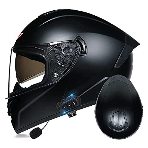 LIRONGXILY Casco Moto Modular Casco Integral Casco Moto Bluetooth Integrado Casco Modular Casco Moto Jet con Doble Visera para Hombre O Mujer ECE Homologado (Color : #6, Size : 61-62cm(XL))