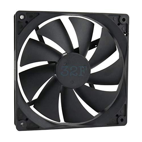 32F Ventilador 140 mm 140 x 140 x 25 1500 RPM 48 V 0,16 A DC Air Fan 14 cm 140 mm 3 hilos 3 pines con sensor tacómetro Refrigeración 140 x 140 x 25