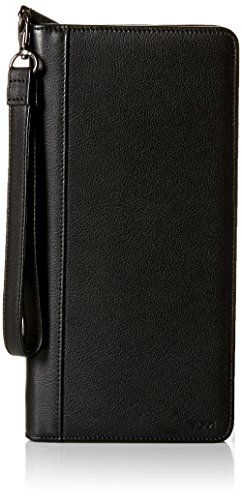 TUMI - Nassau Zip Travel Case Wallet with RFID ID Lock for Men - Black Texture