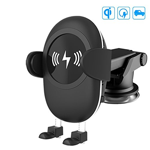 Camboss 2-in-1 Qi Wireless Car Charger with Suction Mount Holder and Air Vent Mount for Samsung Galaxy S8, S7/S7 Edge, Note 8 & Standard Charge for iPhone X, 8/8 Plus & Qi Enabled Devices