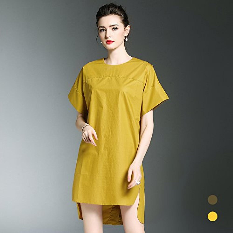 ZHUDJ Summer Dress Loose Solid Code Short