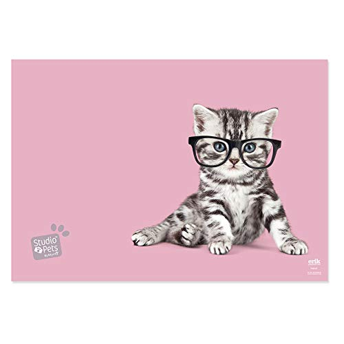 Grupo Erik - Sous-Main Bureau Studio Pets Cats | Sous-Main Bureau Enfant | Protège Bureau Enfant 34 x 49cm