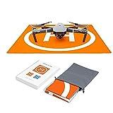 Changlesu RC Drone Tapis d'atterrissage imperméable en PU Portable Pliable pour DJI Mavic Air/Mavic Pro/Spark, avec Sac de Rangement, Design de Couleur Double Face