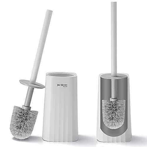 GERUIKE Toilettenbürstenhalter, WC Bürstenhalter mit Schnell Trocknendem Halter, Klobürstenhalter für Badezimmer, Toilet Brush– Weiß(2 Stück