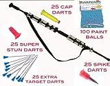 Avenger Warrior Blowgun- Combat Package- Over 160 Darts Plus Paintballs