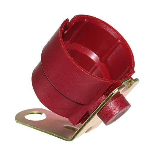1 Stecker Halterung für 7 & 13-polige Anhängerstecker mit Metall Anbauplatte Halter Kunststoff Rot Trailer Neu Old-Harvest