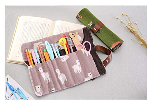 Maquillage Sac Brosse Organisateur Voyage Sac cosmétiques multifonction pinceaux de maquillage protecteur Cercueil Outils de maquillage Laminage Pouch (Color : Pink alpaca)