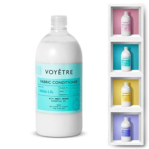 Voyetre Suavizante Concentrado para lavadora – Natural, vegano, fórmula biodegradable [1L – 28 lavados] (White Lily)