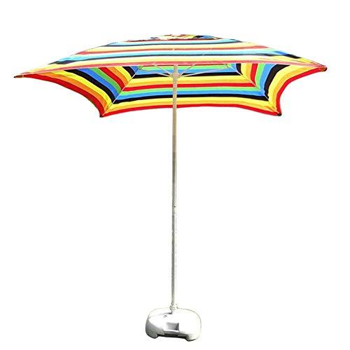 FEE-ZC Sombrillas Sombrilla de jardín de Patio Cuadrado de 6.6 '/2M, para jardín al Aire Libre, Mercado de Eventos comerciales en la Playa, Lado de la Piscina, Rayas (Color: Rayas Blancas y Negras)