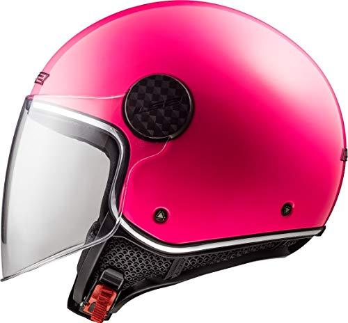 LS2 Casco de moto OF558 SPHERE LUX Rosa, Fuchsia, M